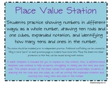 Place Value Math Station - Tens and Ones