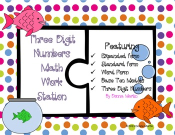 Three Digit Numbers Math Station