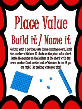 Guided Math Place Value Math Stations