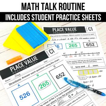 Place Value Math Talk Routine