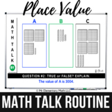 Place Value Math Talk Routine