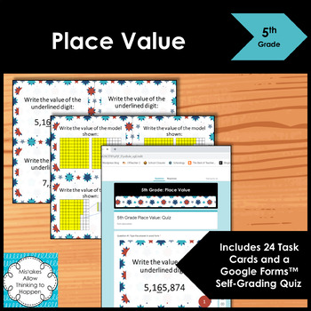 5th Grade Place Value Math Task Cards