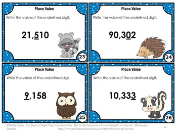 4th Grade Place Value Games to the Thousands, 5th Grade Math Review
