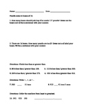 Place Value Math Test (Comparing Numbers)
