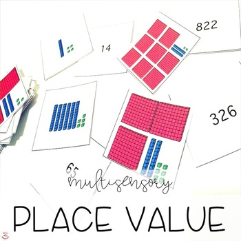 Place Value Math Work and Center
