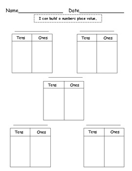 Place Value Math Worksheet for Elementary