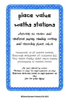 Place Value Maths Stations