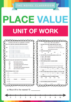 Place Value Math Unit of Work – No Prep Required