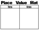Place Value Mats (Black and White)