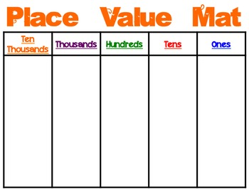Place Value Mats Color By Cherry Rocks Teachers Pay