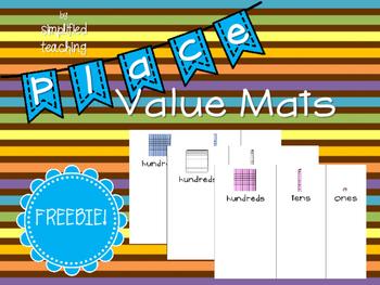 Place Value Mats FREEBIE {Simplified Teaching}