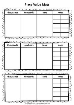 Place Value Mats Free Resource