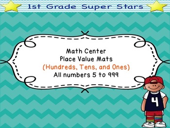 Place Value Mats - Super Bundle (all numbers 5 - 999)
