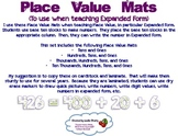 Place Value Mats for Expanded Form