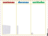 Place Value Mats ~ Valor Posicional {Spanish} [Dual Immersion]