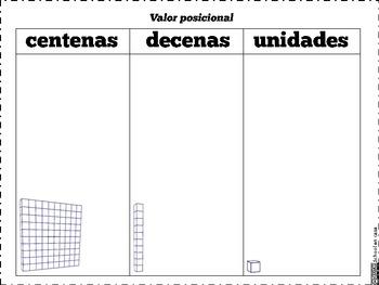 Place Value Mats ~ Valor Posicional {Spanish} [Dual Immersion]