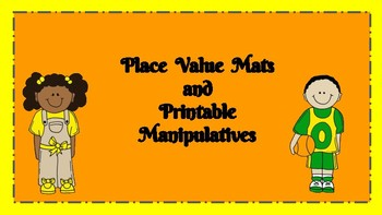 Place Value Mats with Printable Manipulatives, Place Value, Place Value Rods