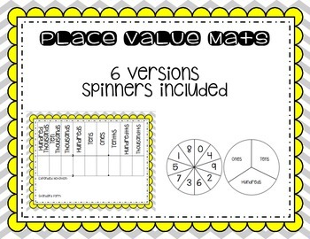 Place Value Mats with Spinners
