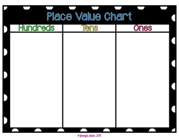 Place Value Mats with Ten Frames and Place Value Display Disks