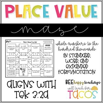 Place Value Maze 3.2A
