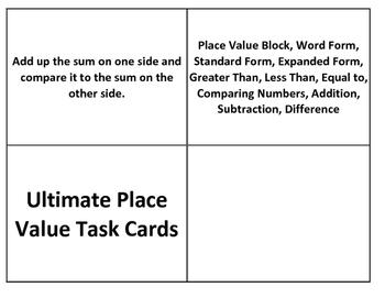 Place Value Task Cards Bundle 23 Different Task Cards (TEKS 2.2ABCDEF)
