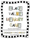Place Value Memory Game  (FREE)