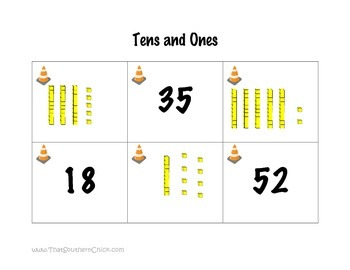 Place Value Memory Game - Numbers Base Ten