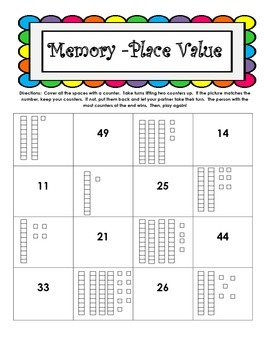 Place Value Memory Games - Set of 3