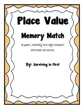 Place Value - Memory Match