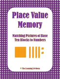 Place Value Memory: Matching Base Ten Pictures with Numbers