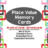 Place Value Memory - Standard, Expanded, and Written Form