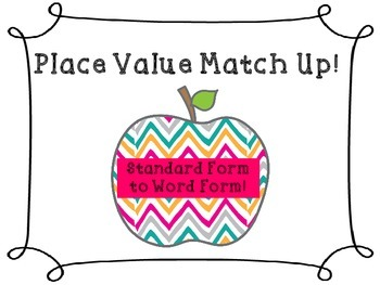 Place Value Match Up: A Memory Game or Task Cards
