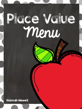 Place Value Menus