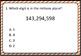 Place Value Millions & Billions 4 Game Bundle