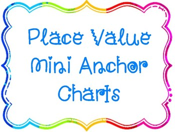 Place Value Mini Anchor Charts