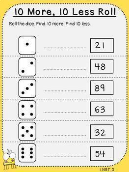 Place Value Mini-Bundle (1.NBT.1, 1.NBT.2, 1.NBT.3, 1.NBT.4, 1.NBT.5, 1.NBT.6)