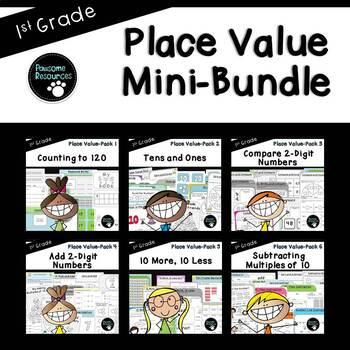 Place Value Bundle (1.NBT.1, 1.NBT.2, 1.NBT.3, 1.NBT.4, 1.NBT.5, 1.NBT.6)
