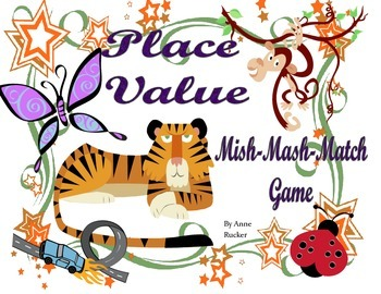 Place Value Mish Mash Matching Game