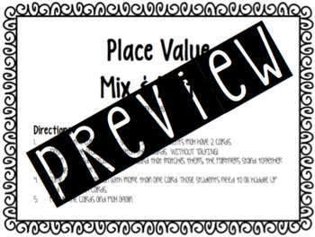 Place Value Mix and Match