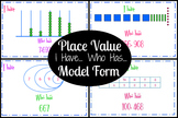 Place Value - I Have... Who Has... (Model Form)