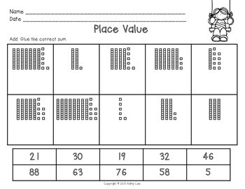 Place Value Models to 100 Task Cards