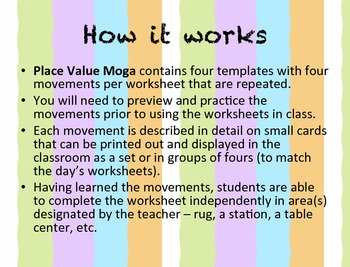 Place Value MOGA: Gr. 4-6 (Math/Yoga to Practice Place Value)