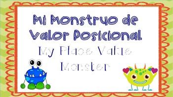 Place Value Monster Spanish & English- Valor Posicional Monstruo