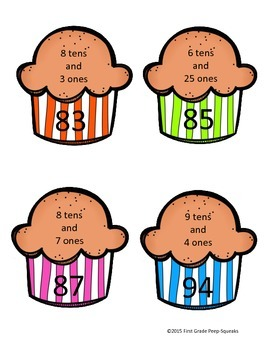 Place-Value Muffin Matching Game