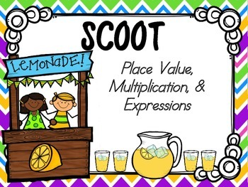 Place Value, Multiplication & Expressions SCOOT (common core aligned)