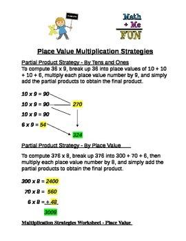 Place Value Multiplication Strategies