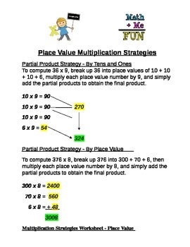 Place Value Multiplication Strategies