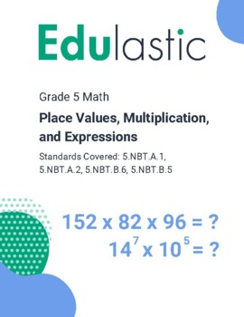 Place Value, Multiplication, and Expressions (Technology E