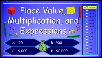 Place Value, Multiplication and Expressions Power Point Mi