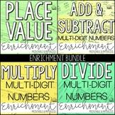 Place Value and Operations Enrichment: Logic Puzzles Bundle